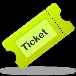 ticket, tix icon