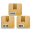 boxes, customers, inventory, products icon