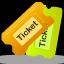 tickets, tix icon