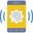 app, communication, file, interaction, phone, settings icon