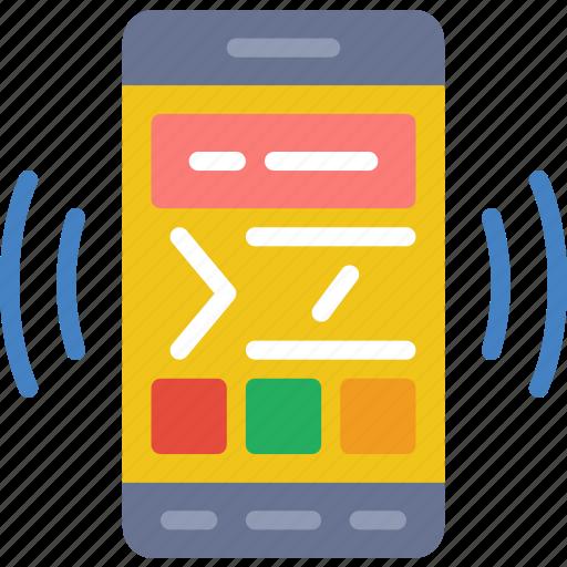 app, coding, communication, file, interaction, phone icon