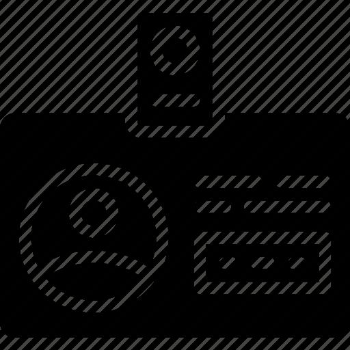 app, badge, communication, file, id, interaction icon