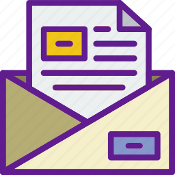 app, communication, file, interaction, mail icon