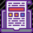 app, communication, file, interaction, internet icon