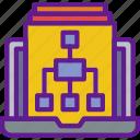 app, communication, diagram, file, interaction, internet icon
