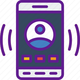 app, communication, file, interaction, user icon