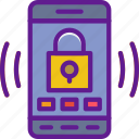 app, communication, file, interaction, phone, security icon