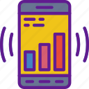 analytics, app, communication, file, interaction, phone icon