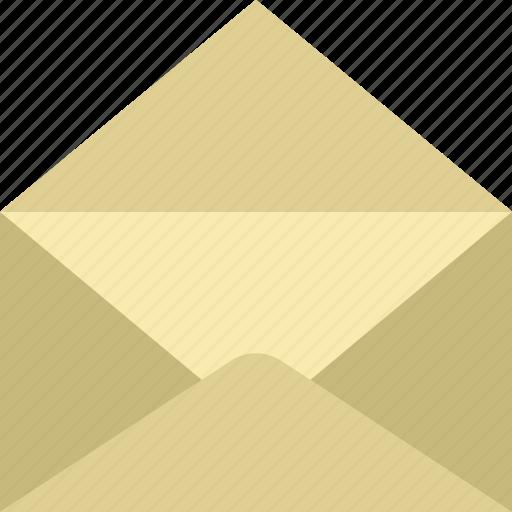 app, communication, envelope, file, interaction, open icon