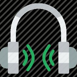 app, communication, file, headphones, interaction icon