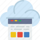 app, cloud, communication, file, information, interaction icon