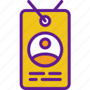 app, badge, communication, file, id, interaction icon