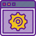 app, browser, communication, file, interaction, settings icon
