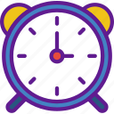 alarm, app, clock, communication, file, interaction icon