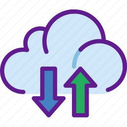 app, cloud, communication, file, interaction, transfer icon