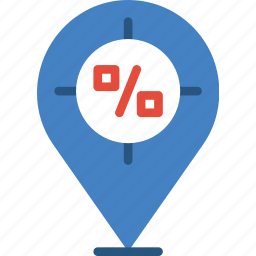buy, commerce, pin, sale, sell, shopping icon