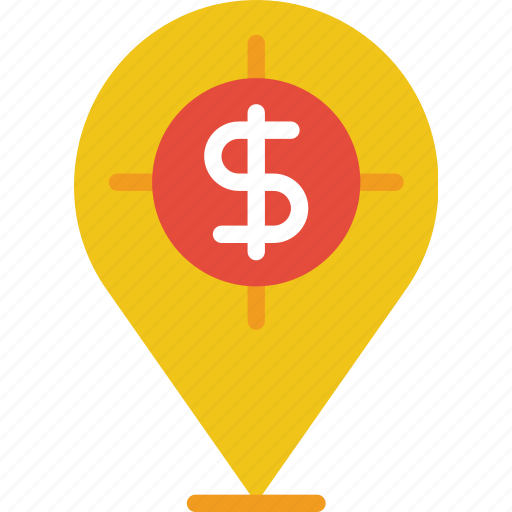 buy, commerce, dollar, pin, sale, sell, shopping icon