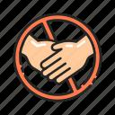 avoid, gesture, hands, handshake, prohibition