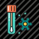 coronavirus, laboratory, saliva, test, tube