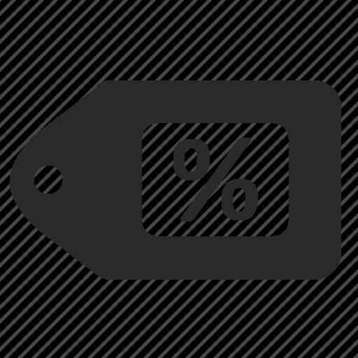 discount, percent, price, sale, tag icon