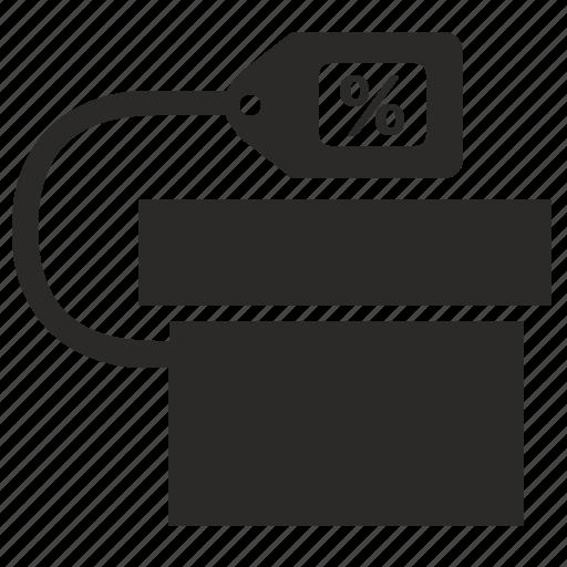 box, cost, present, price, tag icon