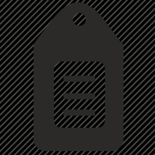 cost, item, money, price, tag icon
