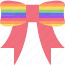 bow, homosexual, lgbt, ribbon icon