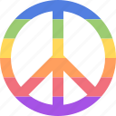 homo, lgbt, peace, rainbow icon