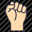 lgbt, pride, celebration, culture, hand, fist, punch