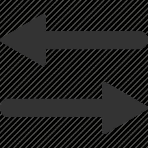 arrows, direction, exchange, flip, horizontal, mirror, swap icon