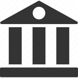 bank building, finance, financial center, library, museum, office, payment icon