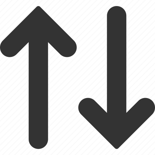 arrows, change, direction, exchange, mirror, swap, vertical flip icon