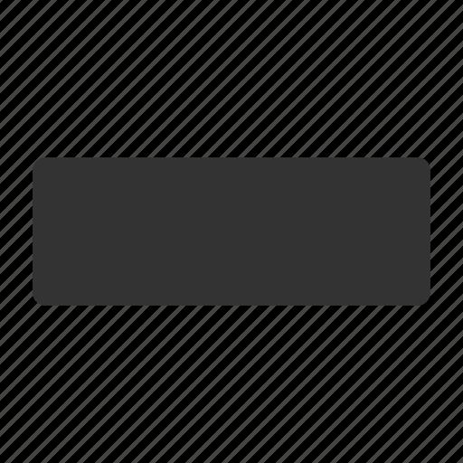 deduct, delete, forbidden, minus, no entry, remove, subtract icon
