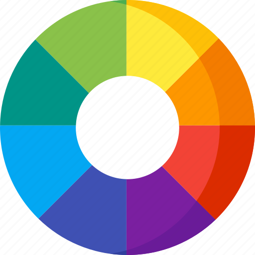 art, color, design, paint, settings, tool, wheel icon