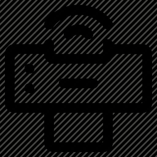 device, page, print, printer, printout, technology, wifi icon