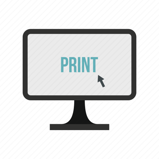 equipment, graphic, machine, monitor, office, paper, technology icon