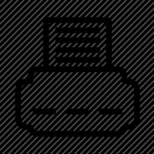 computer, file, office, printer icon