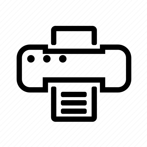 papper, print, printer, printing icon
