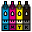 cartridges, ink, print, products icon