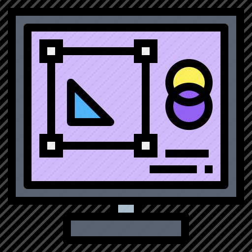 create, design, graphic, monitor, programs icon