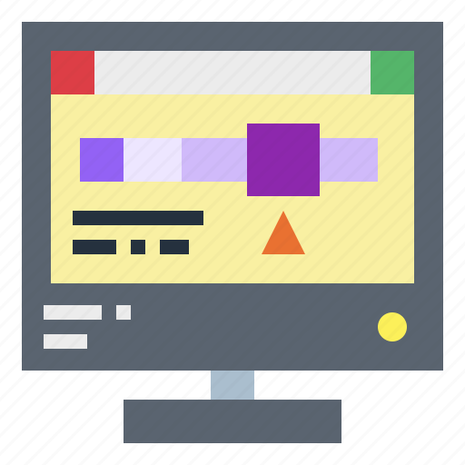 layout, monitor, screen, tool icon