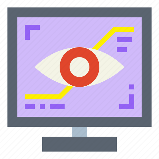 eye, internet, optical, visual icon