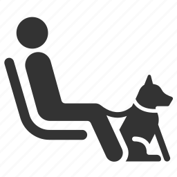 blind, disabilities, disabled, dog, pet, priority, seat icon