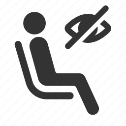 blind, disabilities, disabled, handicap, priority, public transportation, seat icon