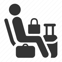 baggage, luggages, priority, public transportation, seat, shop, shopping icon