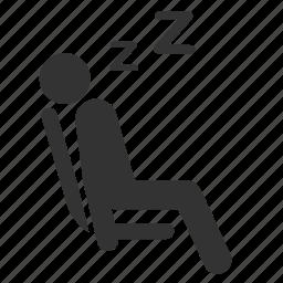 priority, public transportation, seat, sleep, tired icon