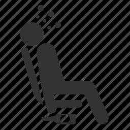 drunk, priority, public transportation, seat, sleep icon