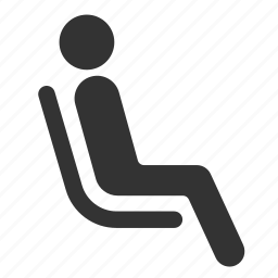 chair, priority, public transportation, seat, sit, wait icon
