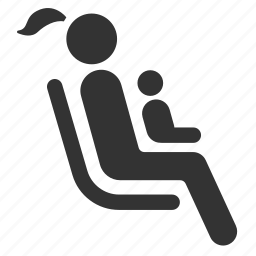 baby, child, kid, mom, priority, public transportation, seat icon