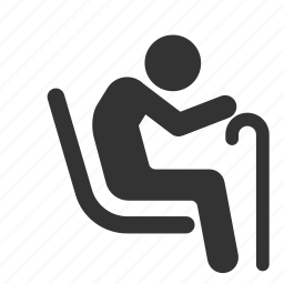 aged, geezer, old, priority, public transportation, seat, senior icon